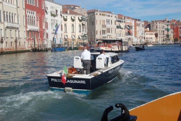 Police boat, Venice