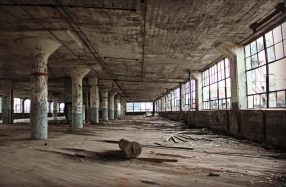 Urban exploration (or dereliction tourism?) in Detroit, photo by the author