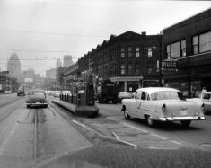 Gratiot at Hastings St., 1956 Photo via Reuther Library, Wayne State University