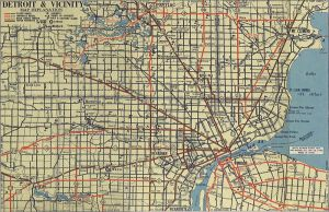 A 1939 map of Detroit showing Gratiot, via Wikipedia