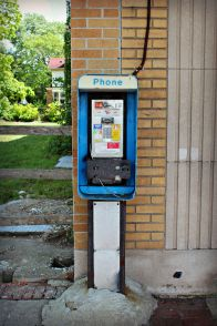 The Detroit Free Press recently did a piece on the city's payphones...saw this one and thought I'd document it.