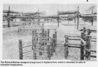 A photo from a 1978 article about the playground in the Detroit Free Press, via Telling the Stories of Detroit's Parks