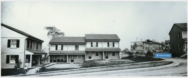 Image of completed company homes via the Youngstown Historical Center of Industry and Labor