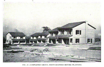 Image of some of the first completed units from the October 1918 issue of The American Architect
